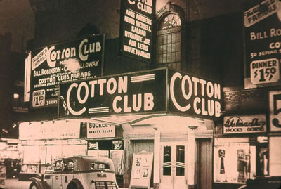 Harlem Cotton club marquee