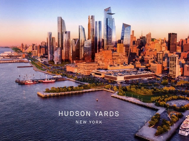 arial view of Hudson Yards