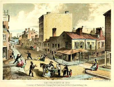 Historic illustration of old new york.